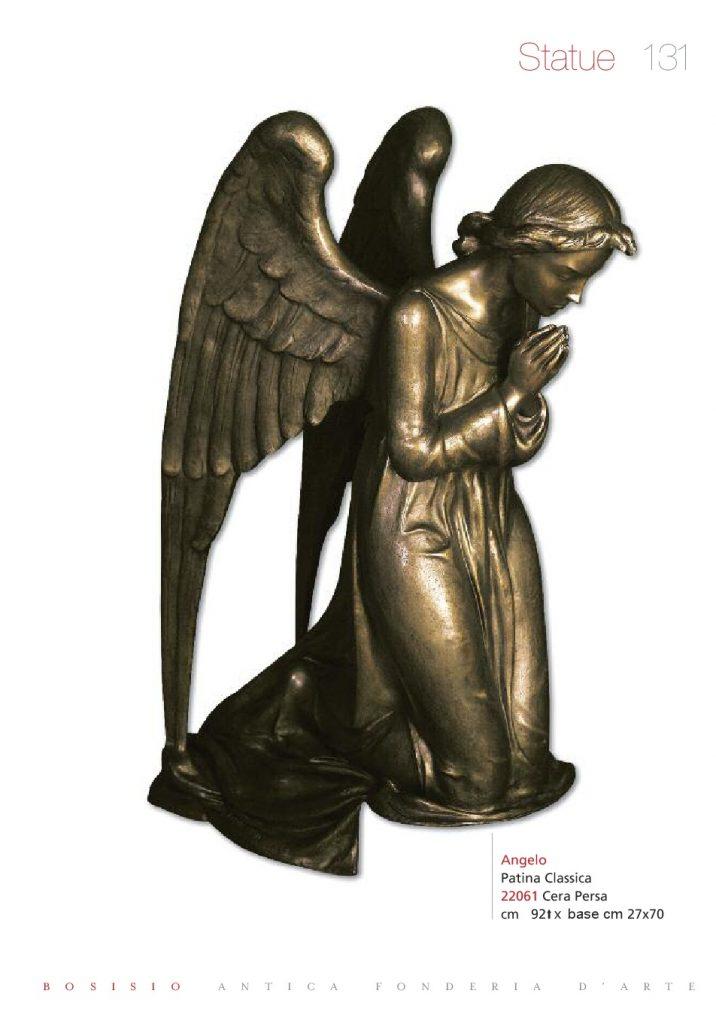 statua angelo per cappelle cimiteriali moderne