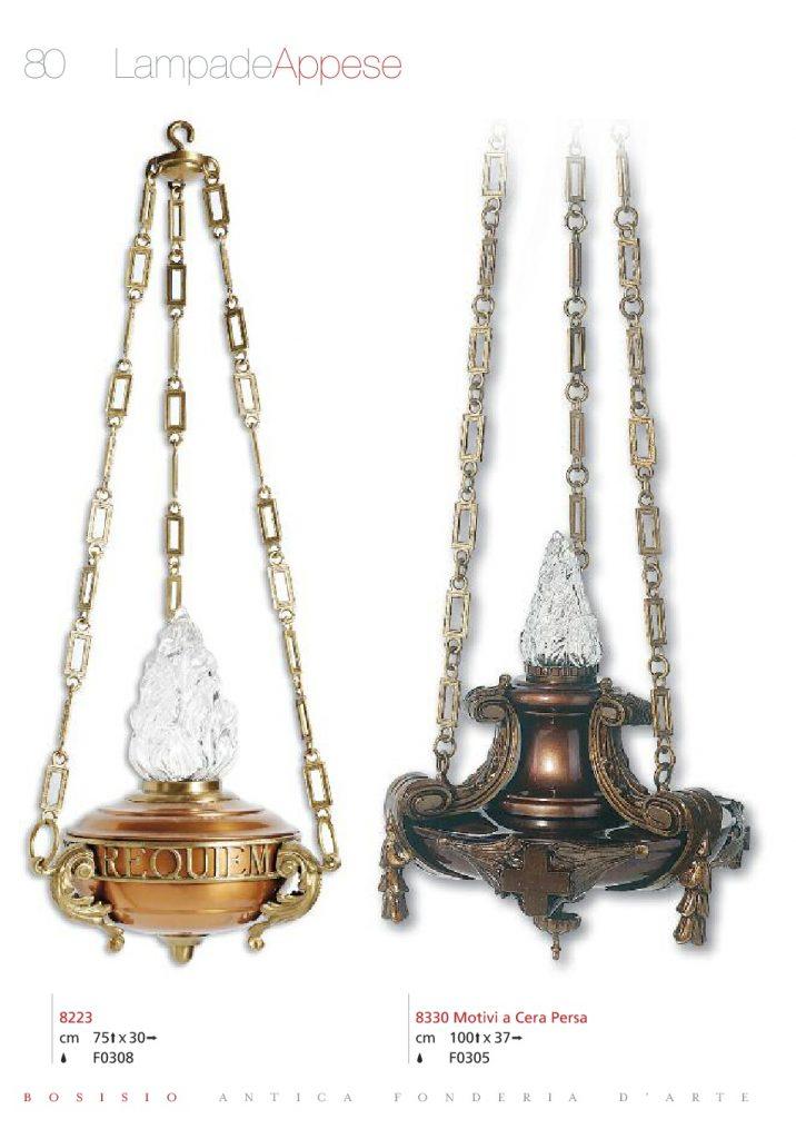 Lampada in ottone bronzo per cimiteri
