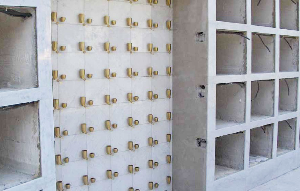 Cinerari in alluminio di Bosisio